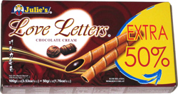 Julie's Love Letters Chocolate Cream