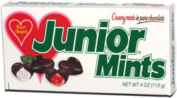 Junior Mints Heart Shaped