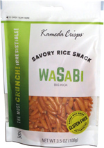 Kameda Crisps Savory Rice Snack Wasabi Big Kick