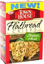 Keebler Town House Flatbread Crisps Italian Herb