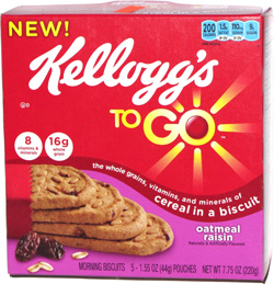 Kellogg's To Go Cereal in a Biscuit Oatmeal Raisin