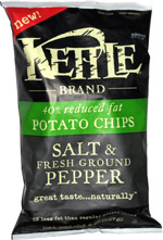 Kettle 40% Reduced Fat Potato Chips Salt & Fresh Ground Pepper