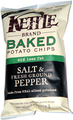 Kettle Baked Potato Chips Salt & Fresh Ground Pepper