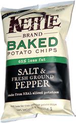 Kettle Baked Potato Chips Salt & Fresh Ground Pepper