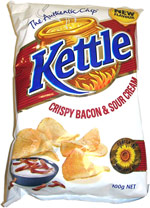 Kettle Crispy Bacon and Sour Cream Potato Chips