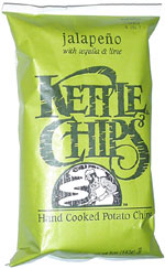 Kettle Chips Jalapeño with Tequila & Lime Hand Cooked Potato Chips