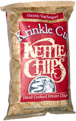 Kettle Chips Krinkle Cut Classic Barbeque Hand Cooked Potato Chips