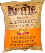 Kettle Krinkle Cut Potato Chips Cheddar & Sour Cream