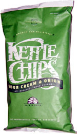 Kettle Chips Sour Cream & Onion All Natural Hand Cooked Potato Chips
