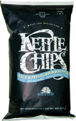 Kettle Chips Salt & Fresh Ground Pepper Hand Cooked Potato Chips