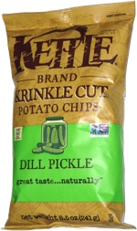 Kettle Krinkle Cut Potato Chips Dill Pickle