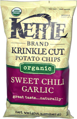 Kettle Krinkle Cut Potato Chips Organic Sweet Chili Garlic