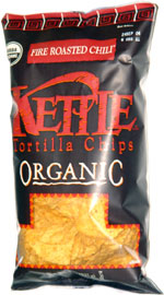 Kettle Tortilla Chips Organic Fire Roasted Chili