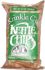 Kettle Chips Krinkle Cut Dill & Sour Cream Natural Gourmet Potato Chips