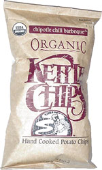 Kettle Chips Organic Chipotle Chili Barbeque Hand Cooked Potato Chips