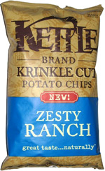 Kettle Krinkle Cut Potato Chips Zesty Ranch