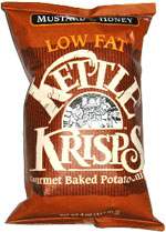 Kettle Krisps Gourmet Baked Potato Chips Mustard & Honey