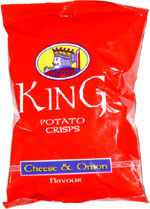 King Potato Crisps Cheese & Onion
