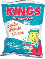 Kings Salt & Vinegar Golden Potato Crisps