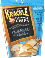 Gold'n Krackle Flatbread Chips Classic Sea Salt