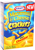 Kraft Macaroni & Cheese Crackers Mild Cheddar