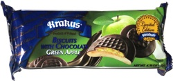 Krakus Biscuits with Chocolate Green Apple
