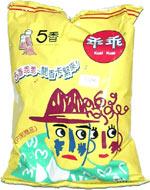 Kuai Kuai puffs in yellow bag
