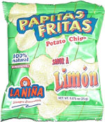 La Niña Papitas Fritas Sabor A Limon Potato Chips