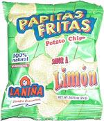 La Niña Papitas Fritas Sabor A Limon Potato Chips