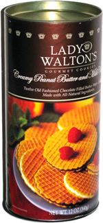 Lady Walton's Gourmet Cookies Creamy Peanut Butter and Milk Chocolate