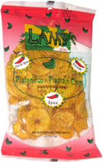 Lam's Plantain Chips Hot & Spicy
