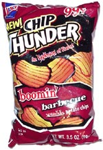 Chip Thunder Boomin' Barbecue Rumble Potato Chips