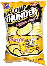 Chip Thunder Chargin' Cheddar & Sour Cream Rumble Potato Chips