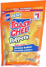 Lance Toast Chee Poppers Bite-Size Peanut Butter Sandwich Crackers