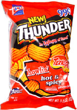 Thunder Howlin' Hot & Spicy Texas Pete Rumble Potato Chips