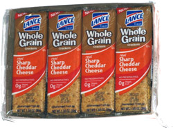 Lance Whole Grain Crackers Real Sharp Cheddar Cheese