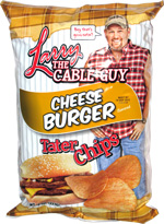 Larry the Cable Guy Cheese Burger Tater Chips