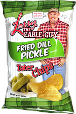 Larry the Cable Guy Fried Dill Pickle Tater Chips