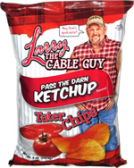 Larry the Cable Guy Pass the Darn Ketchup Tater Chips