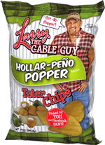 Larry the Cable Guy Hollar-Peño Popper Tater Chips