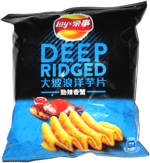 Lay's Deep Ridged Spicy Crab