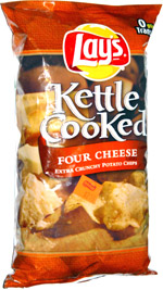Lay's Kettle Cooked Four Cheese Extra Crunchy Potato Chips