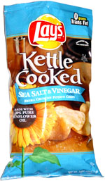 Lay's Kettle Cooked Sea Salt & Vinegar Extra Crunchy Potato Chips