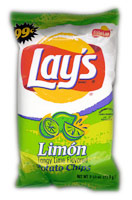 Lay's Lim�n Tangy Lime Flavored Potato Chips