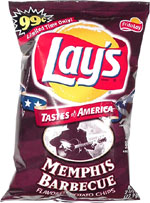 Lay's Memphis Barbecue Flavored Potato Chips