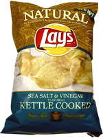 Natural Lay's Sea Salt & Vinegar Kettle Cooked Potato Chips