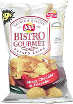Lay's Bistro Gourmet Sharp Cheddar & Jalapeño Potato Chips