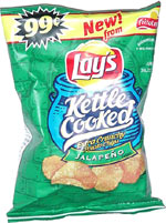 Lay's Kettle Cooked Extra Crunchy Jalapeño Potato Chips