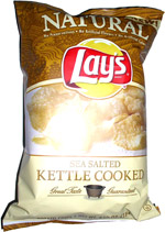 Natural Lay's Sea Salted Kettle Cooked Potato Chips