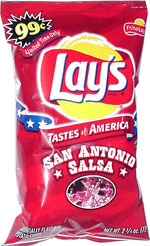 Lay's Tastes of America San Antonio Salsa Artificially Flavored Potato Chips